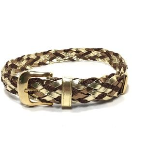 VTG Accessories by Pearl Gold Braided Belt c. 80's